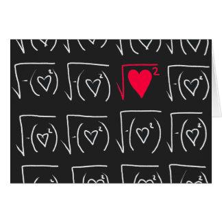 De romance van de wiskunde geek: vind echte liefde notitiekaart