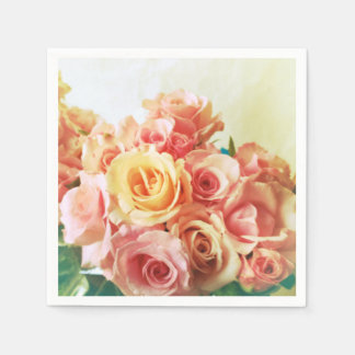 De romance van rozen wegwerp servet