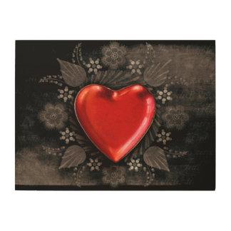 De romantische BloemenLiefde van Valentijn van het Houten Canvas Prints