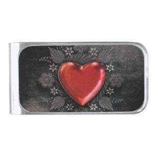 De romantische BloemenLiefde van Valentijn van het Verzilverde Geldclip