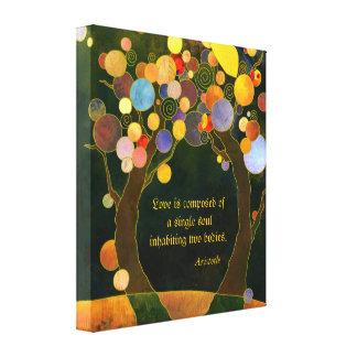De romantische Gift van het Huwelijk van het Canvas Afdruk