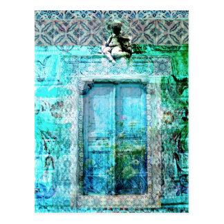 De romantische Italiaanse Deur van de Renaissance Briefkaart
