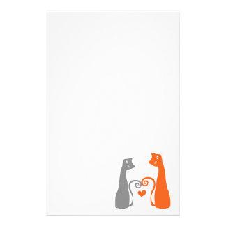 De romantische Katten van het Kat Briefpapier