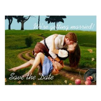 De romantische OpenluchtFoto bewaart de Briefkaart