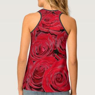 De romantische Rode Rozen houden van Bloemen, Tanktop