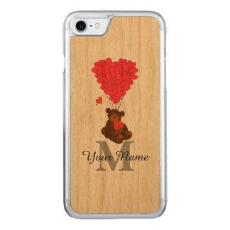 De romantische teddybeer van de pret carved iPhone 7 hoesje