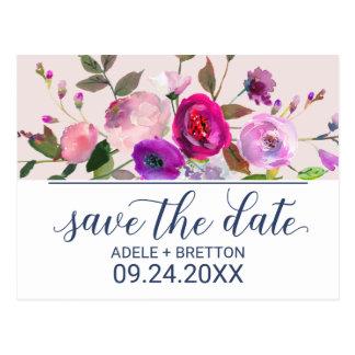 De romantische Tuin bewaart de Datum Briefkaart