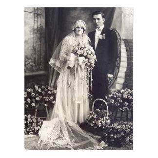 De romantische Vintage Bruid en Kaarten en de