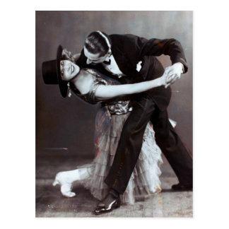 De romantische Vintage Foto van het Duo van Briefkaart