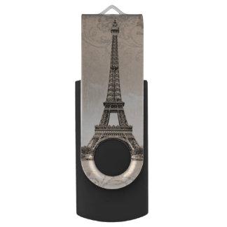 De romantische Vintage Toren van Eiffel USB Stick