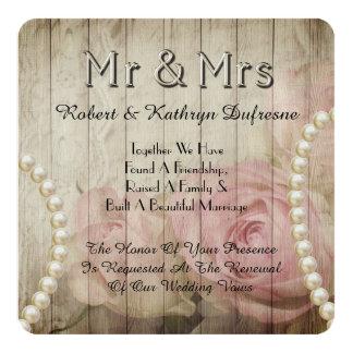 De romantische & Vintage Uitnodiging van de
