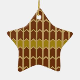 De romige Kastanjebruine Omheining van het Comité Keramisch Ster Ornament
