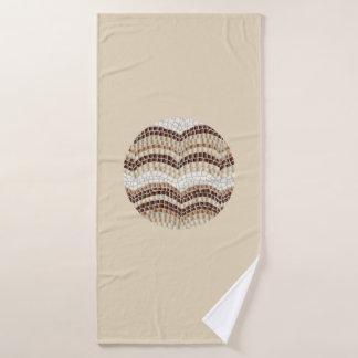 De ronde Beige Badhanddoek van het Mozaïek