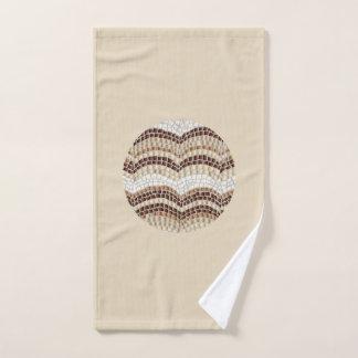 De ronde Beige Handdoek van de Hand van het