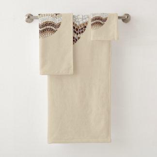 De ronde Beige Reeks van de Handdoek van de