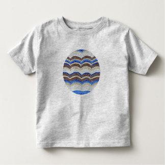 De ronde Blauwe T-shirt van de Peuter van het