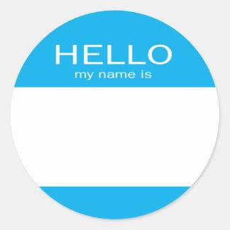 De ronde Cirkel Hello Mijn Naam is Ronde Sticker