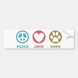 De ronde Liefde van de Vrede van Pictogrammen Bumpersticker