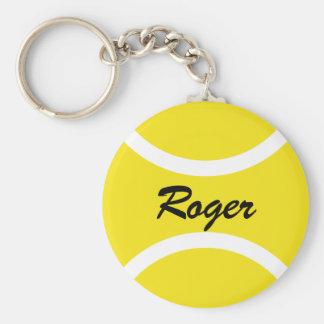 De ronde naam Personalizable van tennisbal keychai Sleutelhangers