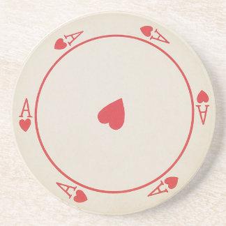 De ronde onderzetters van Speelkaarten
