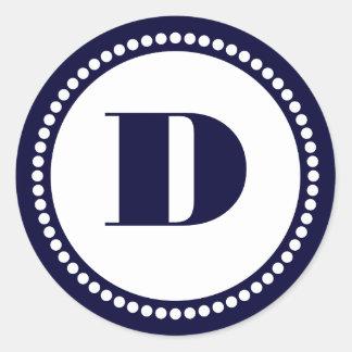 De ronde Sjabloon van het Monogram van het Lijst Ronde Sticker