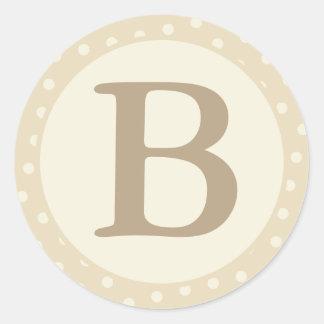 De ronde Verbindingen van de Envelop met Monogram Ronde Sticker