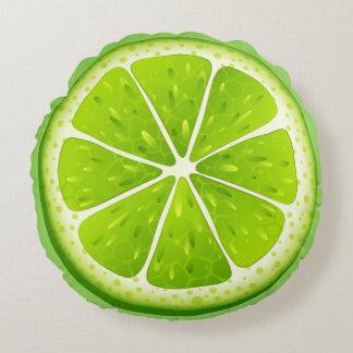 De ronde werpt hoofdkussen-Limoen Rond Kussen