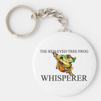 De rood-Eyed Kikker Whisperer van de Boom Sleutelhanger