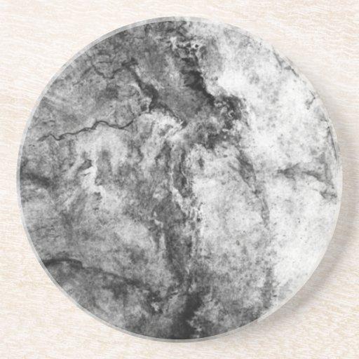 De rook schoot Zwarte Witte marmeren steen weg ein Onderzetter Voor Drinken   Zazzle