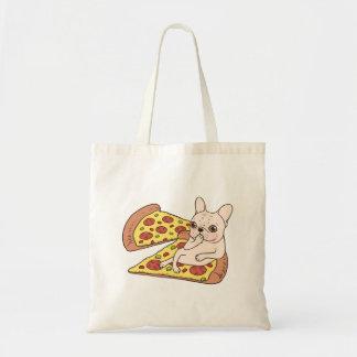De room Frenchie nodigt u aan haar pizzapartij uit Draagtas