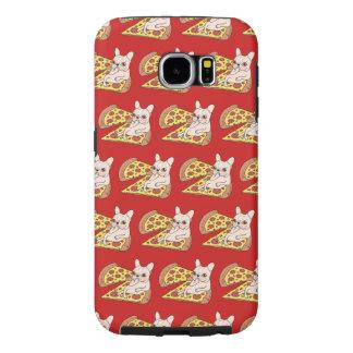 De room Frenchie nodigt u aan haar pizzapartij uit Samsung Galaxy S6 Hoesje