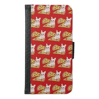 De room Frenchie nodigt u aan haar pizzapartij uit Samsung Galaxy S6 Portemonnee Hoesje