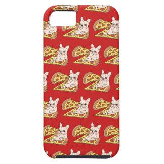 De room Frenchie nodigt u aan haar pizzapartij uit Tough iPhone 5 Hoesje