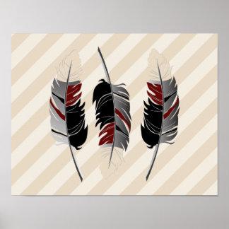 De Room van veren en van Strepen, Kastanjebruin, Poster