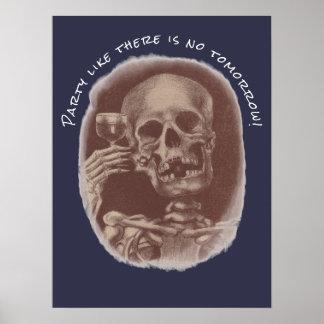 De roosterende Partij van het Skelet als is Er Poster