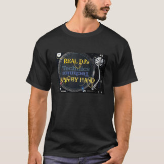 De Rotatie van echt DJ door Handen T Shirt