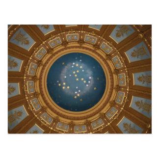 De Rotonde van het Capitool van Michigan Briefkaart