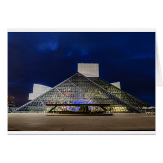 De rots - en - rolt Hall of Fame bij Schemer Wenskaart
