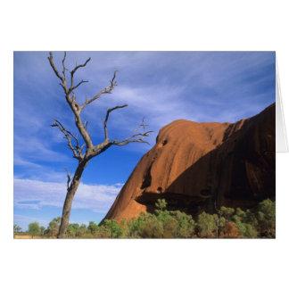 De Rots Uluru van Ayers in het Binnenland Kaart