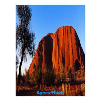 De Rots van Ayers, poster Briefkaart