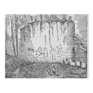De Rots van de inschrijving, dichtbij Pueblo van Briefkaart