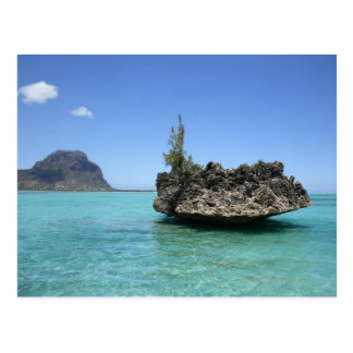 De rots van het kristal uit koraal wordt briefkaart