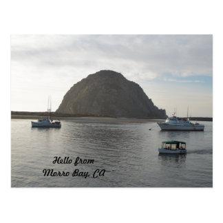 De Rots van Morro bij Morro Baai, CA Briefkaart