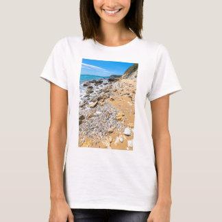 De rotsachtige kust Kefalonia Griekenland van het T Shirt