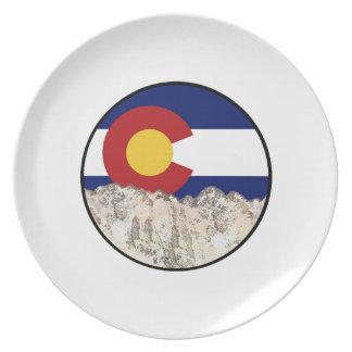 De rotsachtige Liefde van de Berg Melamine+bord