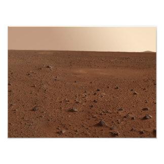 De rotsachtige oppervlakte van Mars Foto