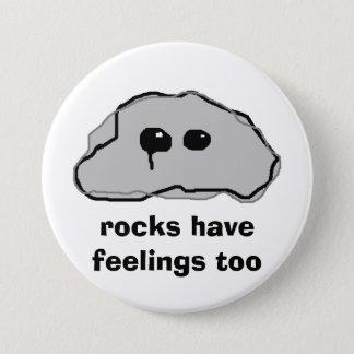 de rotsen hebben ook gevoel ronde button 7,6 cm