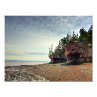 De Rotsen New Brunswick Canada van Hopewell Foto Afdrukken