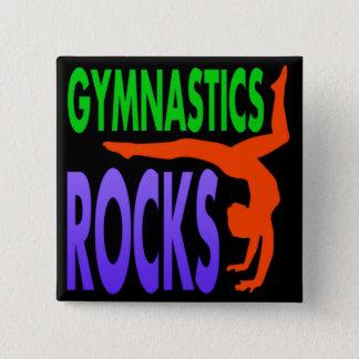 De Rotsen van de gymnastiek Vierkante Button 5,1 Cm