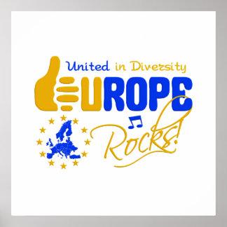 De Rotsen van Europa! poster - pas aan!